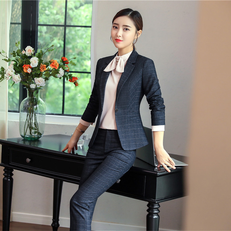 IZICFLY Women Pants Suits With Blazer Jacket Elegant Slim Business Ensemble Femme 2 Pieces Pantalon Veste Tailleur Office Wear