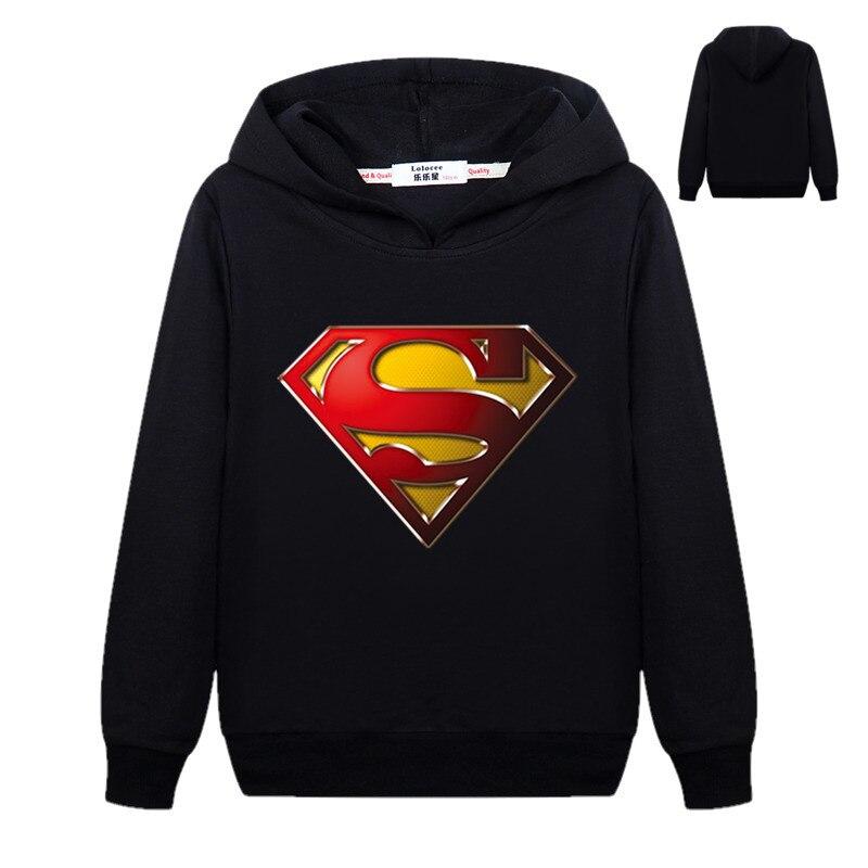 2019 Nieuwe Superman Hoodie Jongens Toevallige Katoenen Dunne Sweatshirts Captain America Truien Trainingspak Kostuum Basic Jacket Comfortabel En Gemakkelijk Te Dragen