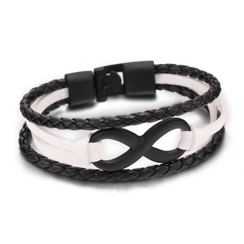 Großhandel New Fashion Schwarz plattiert Infinity Armband Echt - Modeschmuck - Foto 4