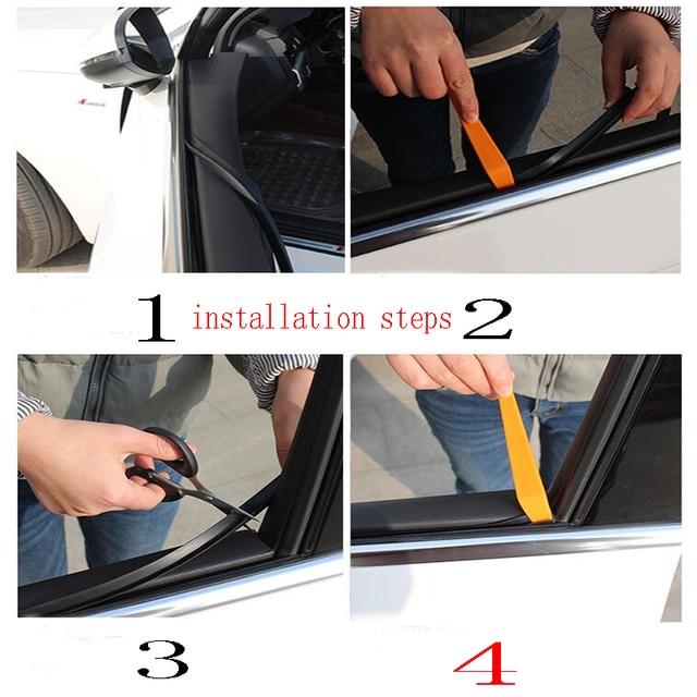 Auto Geluiddichte Afdichting Raam Seat Gap Naad Strip Voor BMW E46 E90 E60 E36 F20 X5 x6 Ford Focus 2 3 1 Peugeot 206 307 308 Saab Trim