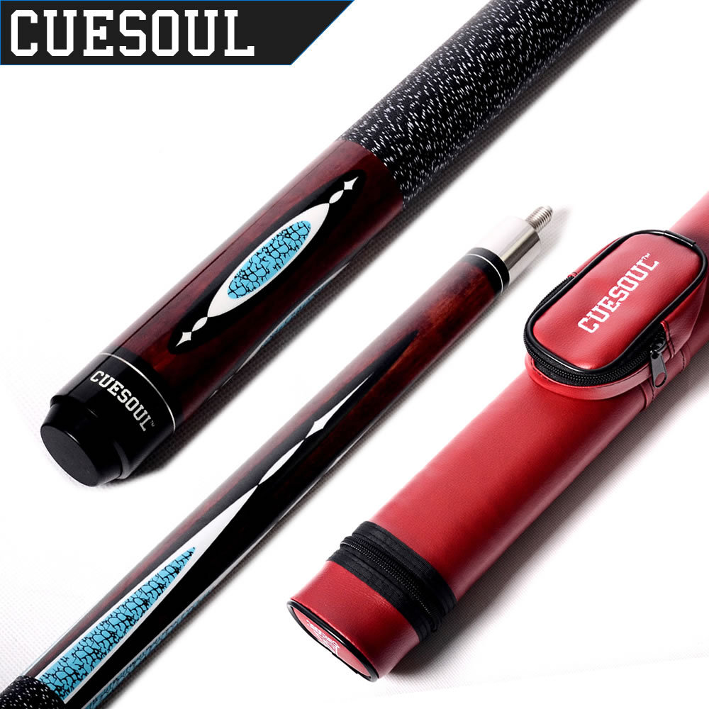 Cuesoul 1/2 Jointed 19 Oz Maple Billiard Pool Cue With Cue Case E104+CASE