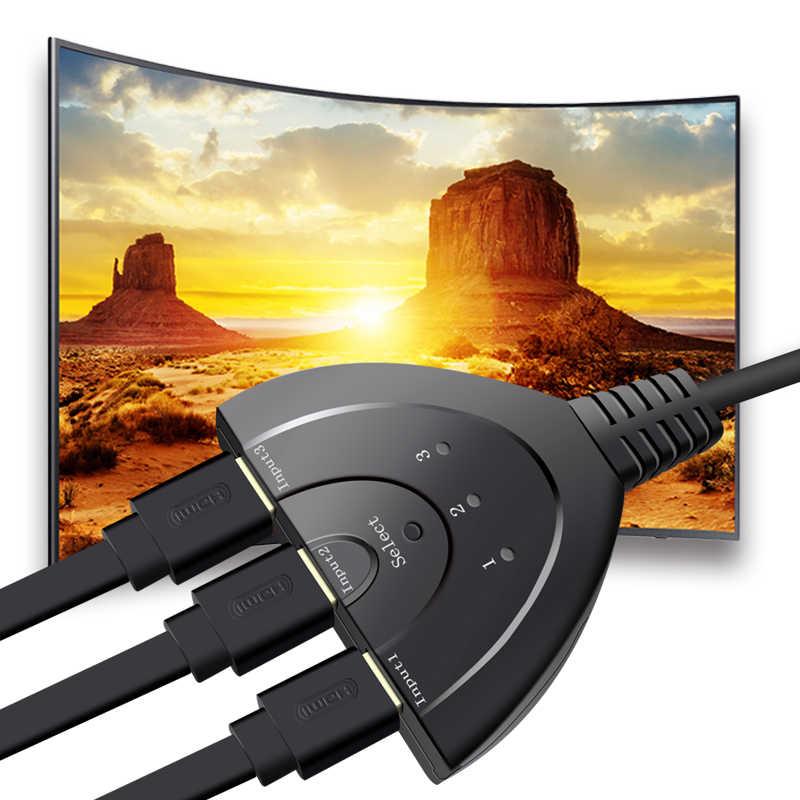 Mini 3 Cổng Bộ Chia HDMI Cáp 1.4b 4K * 2K 1080P Switcher BỘ Chuyển Đổi HDMI Switch 3 năm 1 Cổng ra Trung Tâm cho HDTV Xbox cho PS3 cho PS4