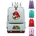 Рюкзак Super Mario для женщин и мужчин  холщовый рюкзак высокого качества  школьная сумка для студентов-подростков  дорожный рюкзак для ноутбука