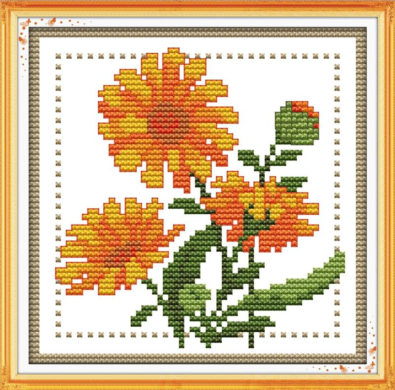 Joy Sunday Floral Style Twelve Months Flower October Design Chart