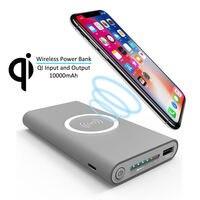 10000 mAh Energienbank Qi Wireless-ladegerät für iPhone 8 8 Plus X Externes Ladegerät USB Power für Samsung-anmerkung 8 S6 S7 S8