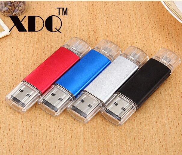 OTG USB Flash Drive 128 ГБ 64 ГБ 32 ГБ Pen Drive Реальная Емкость 16 ГБ 8 ГБ 4 ГБ Pendrive USB Flash Stick для Android U Диск