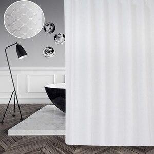 Image 5 - UFRIDAY ยี่ห้อวาฟเฟิลสีขาวผ้าม่านห้องน้ำกันน้ำโพลีเอสเตอร์หนาสำหรับโรงแรม Home ตกแต่งผ้าม่านอาบน้ำหน้าจอ