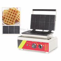 Commercial Waffle Maker Electric Rectangle Waffle Machine 10 Moulds 220V/110V Timer Thermostat