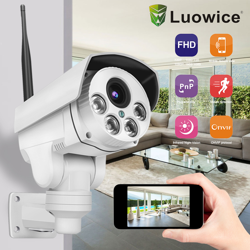 2MP Wifi IP Security wireless camera Pan Tilt 5x zoom Waterproof font b Outdoor b font