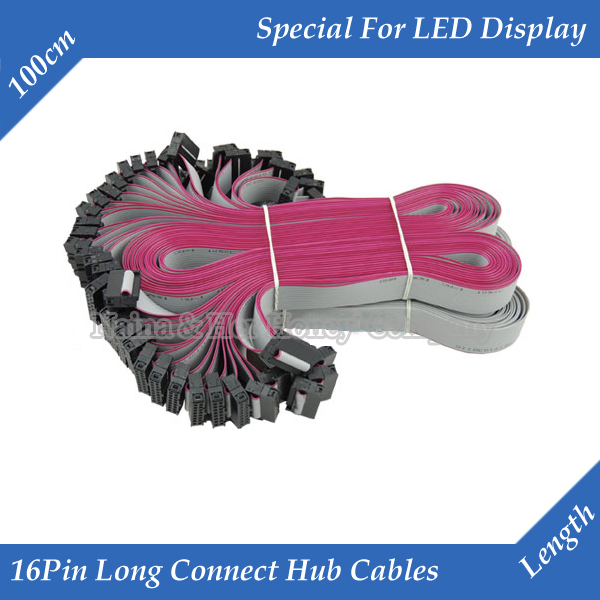 10pcs/lot 100cm Long Flat Wire/ Hub Cable Tinned Copper Data Cable For LED Display