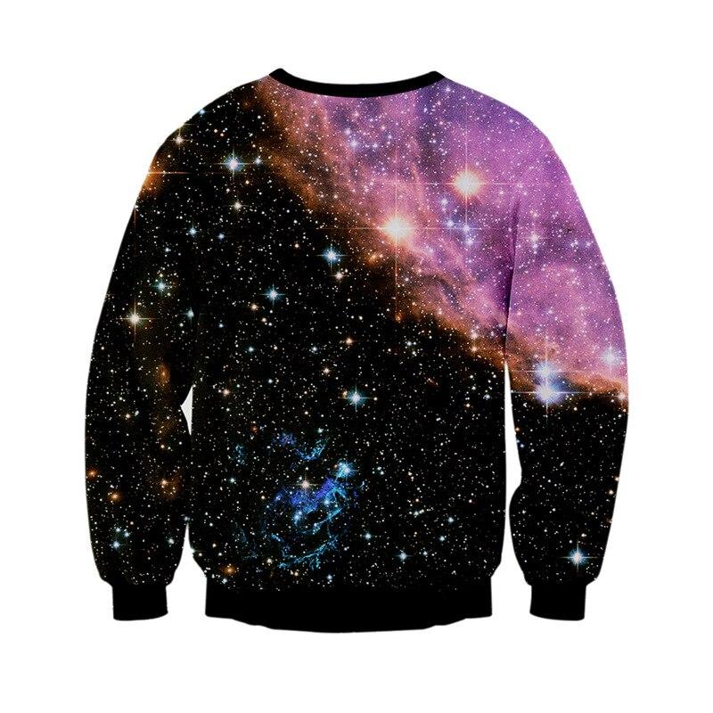 Новинка 2018 года весенние Брендовые мужские digital sky Млечный Путь 3D печати молодежная мода свитер пуловер длинные рукава happy одежда