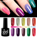 Verntion 8ml Colorful Neon Gel Polish nail Art lucky Color Base Primer Gel Varnish Top coat Bling cheap Gel Nail Lacquers