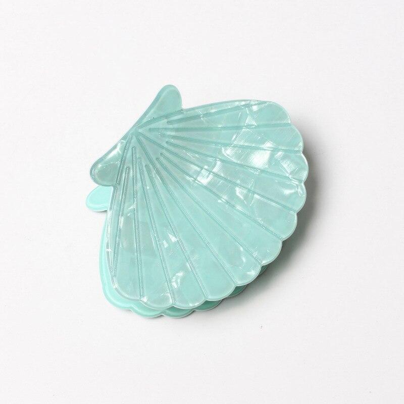 פגז מאוורר צורת אקריליק ציפורני שיער קרן סיכת נשים שיער אביזרי יופי שיער סרטן בארה 'ילדה שיער קליפ