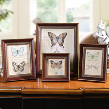 Wall Hanging Photo Frame Fotoframe Photo Frames Photos for Picture Mini Wooden Frame Fashion Green Yellow Brown Blue 4 6 7 Inch(China)
