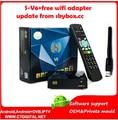 S-V6 + free wifi adaptador Mini HD Receptor de Satélite Digital S V6 com AV HDM 2 2xusb WEB TV USB Wifi Biss Key CCAM Youporn S-V8