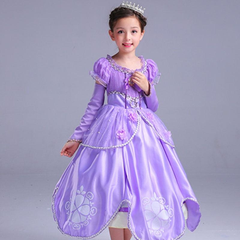 Sofia Princess Dress Kids Cosplay Costumes Girls New Arrival: Princess Summer Dresses Girls Sofia Cosplay Costume