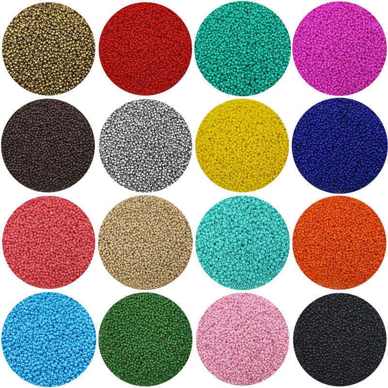 חדש 15 גרם 2-3-4mm קריסטל Spacer צ 'כי זכוכית זרע חרוזים להכנת תכשיטים עגיל שרשרת קסמי בעבודת יד DIY