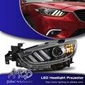 One-Stop Shopping Styling para 2014 Novo Mazda 6 LEVOU Farol Faróis Mazda6 DRL Lens Duplo Feixe H7 HID Xenon Carro acessórios