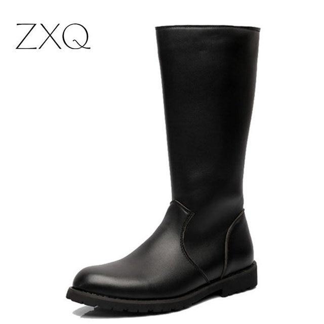 Плюс Размер Мужчины Кожаные Сапоги для Верховой Езды Моды Prairie Высокие Сапоги Для Мужчин Бренд Ручной Desert Обувь