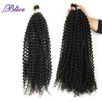 Blice 28inch Synthetic Braid Hair Extension Long Freetress Crochet Latch Hair Pure Color Afro Kinky Bulk Hair Three Piece Deal