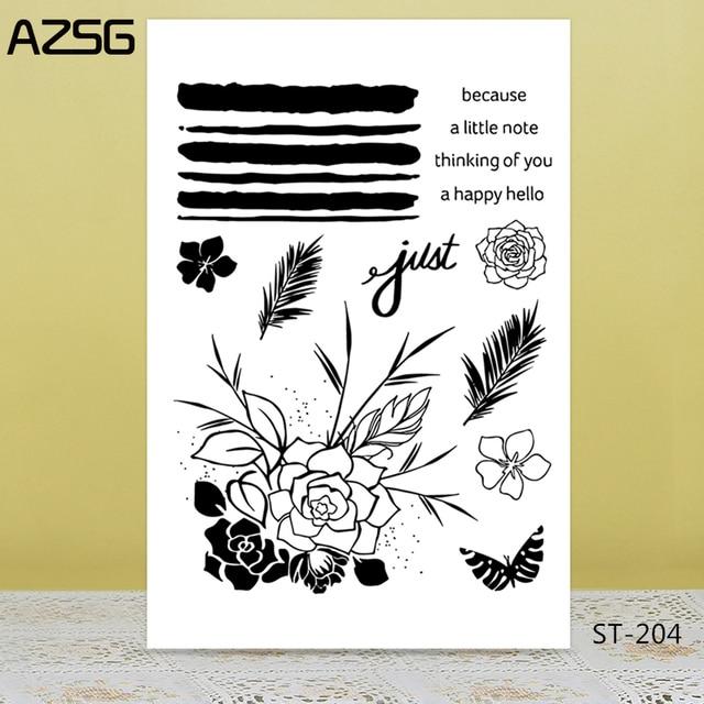 Azsg Beautiful Lotus Flower Rose Clear Stampsseal For Diy