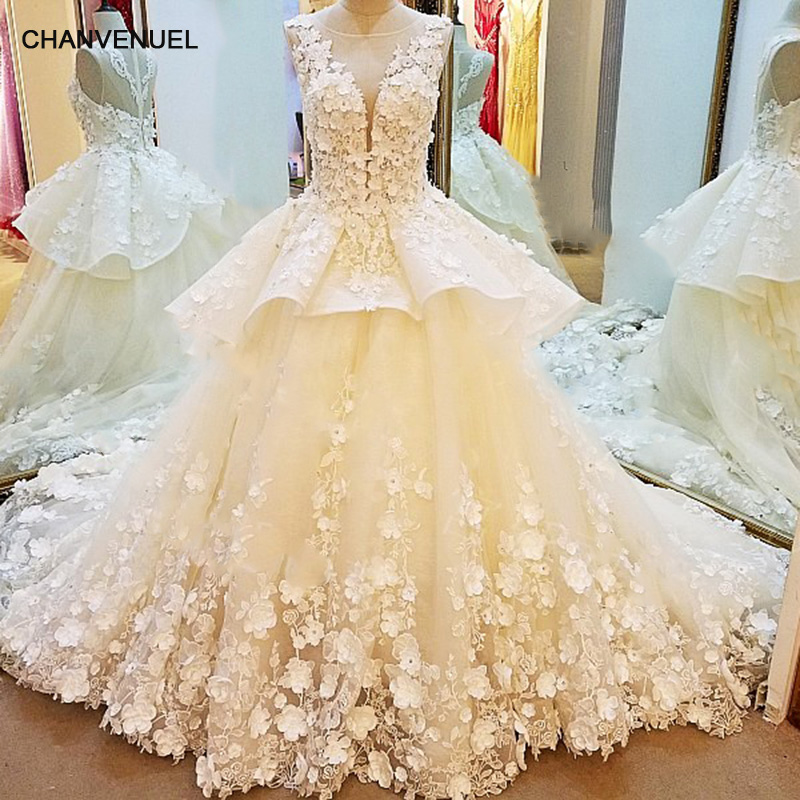 Ls53796 luxury bridal wedding dresses 2017 beaded crystal for Aliexpress wedding dresses 2017