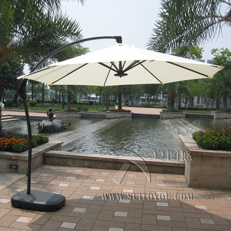 metro de aluminio deluxe patio colgando sombrilla sombrilla sombrilla de jardn al aire libre cubiertas