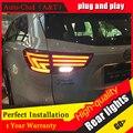 Авто Clud Стайлинга Автомобилей для Нового Highlander Задние Фонари 2015 Kluger СВЕТОДИОДНЫЕ Задние Фонари Lexus Тип Задний Фонарь DRL + Тормоз + парк + Сигнал led lig
