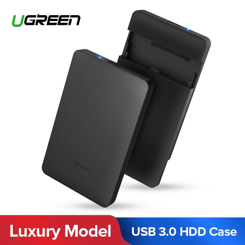 Ugreen HDD de 2,5 pulgadas SATA a USB 3,0 SSD adaptador de disco duro caja para HDD 1 TB 2 TB disco duro externo caso