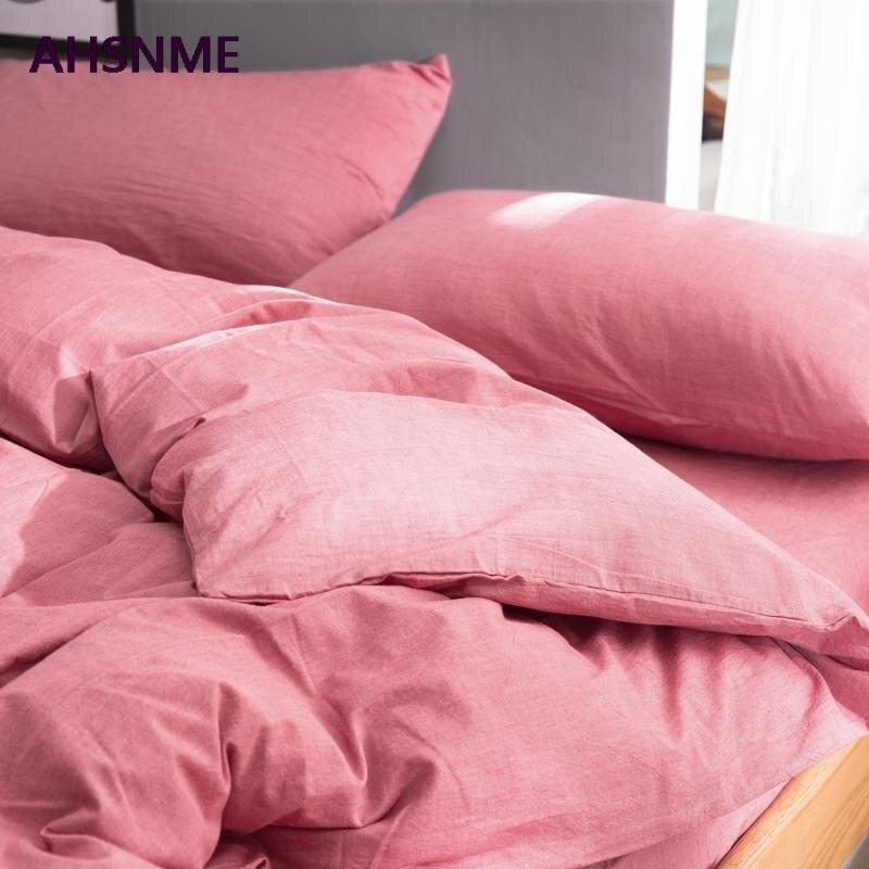 AHSNME 100% хлопок постельное белье супер мягкое постельное белье крутое летнее покрывало из кармина пододеяльник одеяло комплекты постельного белья