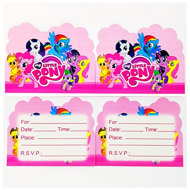 10pcs my little pony theme party paper invitation card birthday 10pcs my little pony theme party paper invitation card birthday party decoration kids baby shower supplies filmwisefo