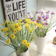 silk flowers artificial flower Marguerites set home decoration wedding Christmas decor Free Shipping
