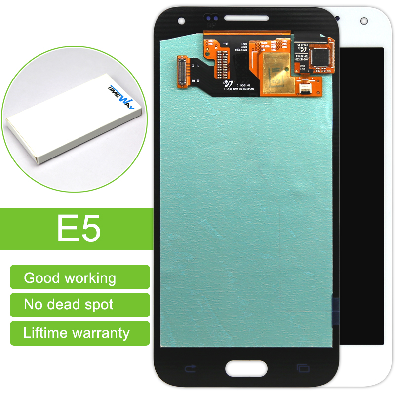 Top Fashion Dhl 5 Pcs For Samsung E5 Sm-e500f New Lcd Display With Touch Digitizer Assembly Black/gold/white Free Shipping киянка резиновая белая