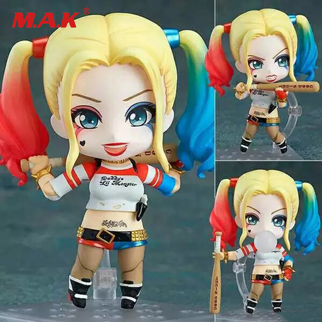 10CM PVC suicide squad Q version Nendoroid Harley Quinn/Joker Jared Leto anime action figures children toys gifts collections