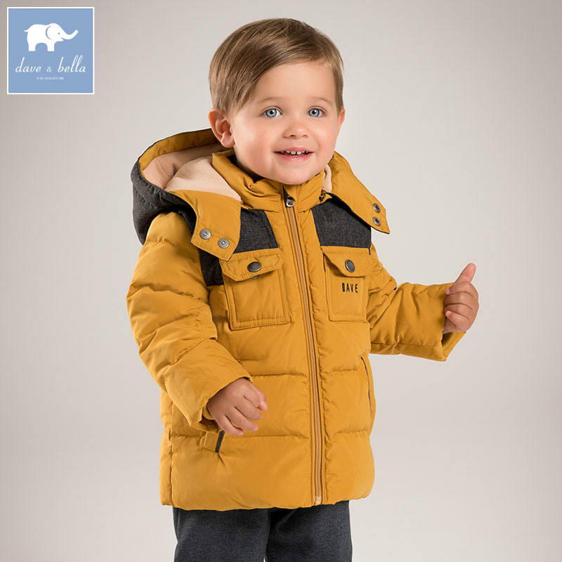 DB5570 dave bella winter infant baby boys down jacket children white duck down padded coat kids hooded outerwear db4088 dave bella baby girls padded clothing hooded padded coat outerwear kids down jacket