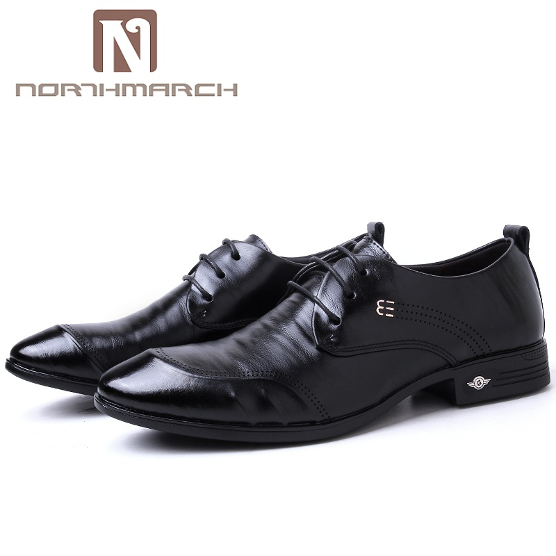 NORTHMARCH Formal Shoes Fashion Genuine Leather Shoes Men Lace-Up Business Men Shoes Men Dress Shoes Summer Oxfords Spring цена 2017