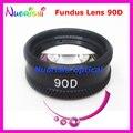 90D так хорошо , как волк объектив! Офтальмологических асферические фундус-камеры щелевой лампы контактные стеклянный объектив черная кожа металл чехол упакованные бесплатная доставка
