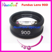 90D As Good As volk Lens! Ophthalmic Aspheric Fundus Slit Lamp Contact Glass Lens Black Leather Metal Case Packed Free Shipping