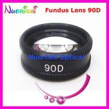 90D kadar iyi volk Lens! Oftalmik asferik Fundus yarık lamba kontak cam Lens siyah deri Metal kasa paketlenmiş ücretsiz kargo