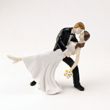 10pcs Tango Dancing Couple Figurine Bride and Groom Resin Wedding Cake Toppers Wedding Decoration Casmento  Accessories ZA1281