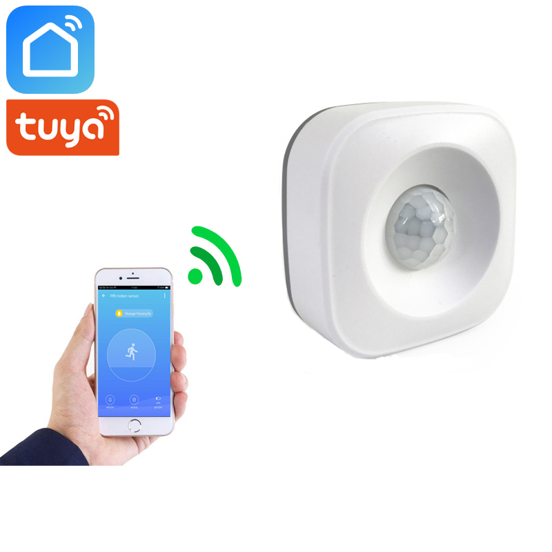 Tuya Smart Life PIR Wifi Smart Motion Sensor Detector Home Security Compatible With Alexa Google Home Mini
