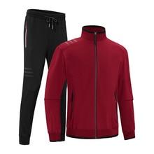 8XL spring autumn men sportswear tracksuit zip up jacket sweatshirt+pant casual running jogger fitness workout outfit sport set