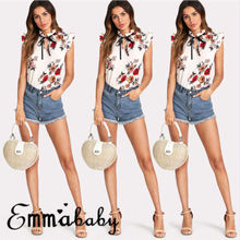 Emmababy verano mujeres sin mangas camiseta blusa Ladies Casual Loose Top  UK STOCK 860d8e261bf53