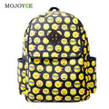 Fashion Backpack Women'Men Emoji Bag Canvas Travel Backpack School Rucksack Bag Emoji Backpack Emoji School Bags for Girls