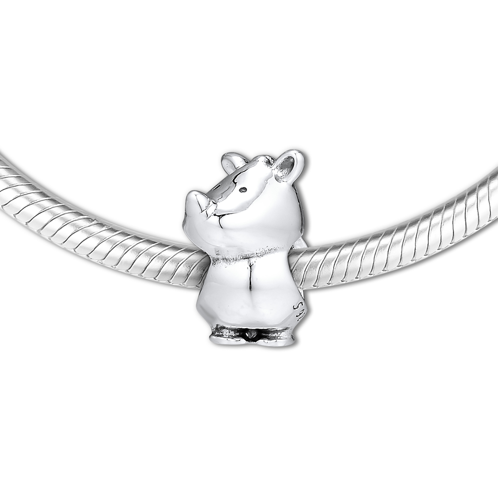 Fits Pandora Charms Bracelet Rino the Rhinoceros Charm 100 925 Sterling Silver Original Europe 2019 Summer Beads DIY Jewelry in Beads from Jewelry Accessories