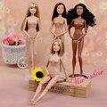 Оригинальный весь мир германия обнаженная кукла / белый и черная кожа / с 11 объединенная гибкий / 29 см высокой для барби куклы детские игрушки подарок