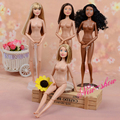 Original Macmillan Germany Nude Doll / White & Black Skin / with 11 Jointed Flexible / 29cm High For Barbie doll Baby Toy Gift