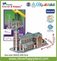 New 2014 Clever&Happy 3d puzzle Korea Myeong-dong Cathedral Church adult drawings model learning & education