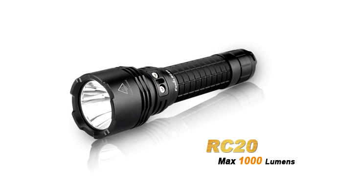 Fenix RC20 Tactical Flashlight 290Meter Cree XM L2 U2 LED 1000 Lms 5Mode Waterproof Portable Torch