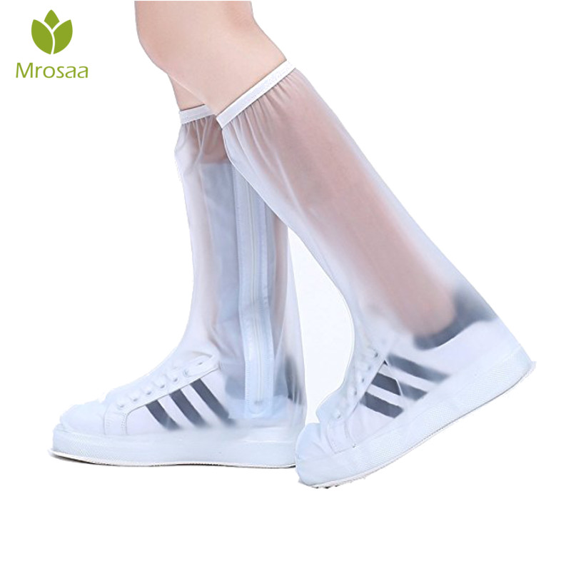 Waterproof Rain Reusable Shoes Covers, All Seasons Slip-resistant Zipper Rain Boots Overshoes, Men&Womens Shoes Accessories